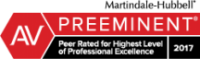 Martindale-Hubbell® AV Preeminent®: Peer rated for the highest level of professional excellence